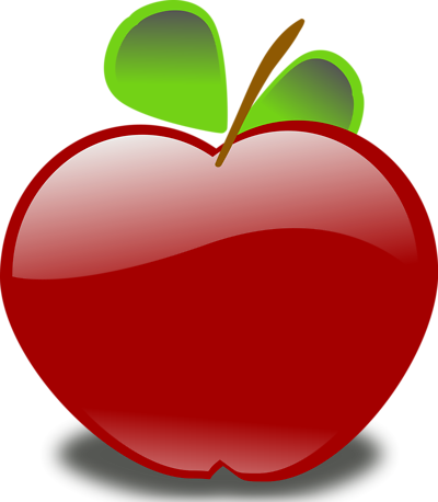 Free Red Apple Clipart of a Red Apple | 11391