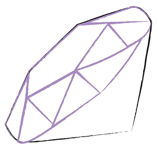 Outline Of A Diamond Shape - ClipArt Best
