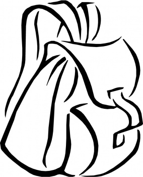Backpack Coloring Page - ClipArt Best