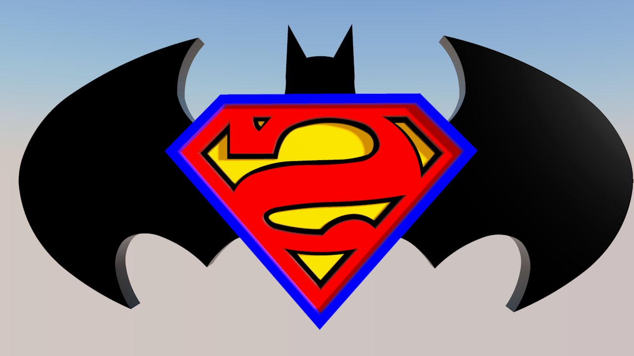 Superman and batman logo 2013