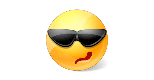 Sunglasses Emoticon Facebook  smiley sunglasses clipart best