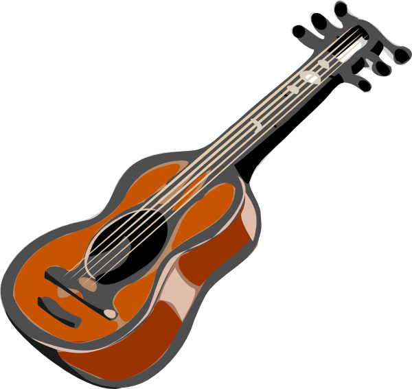 Guitar clip art Free Vector