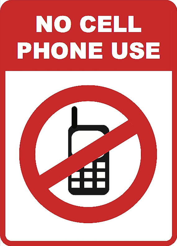 No Cell Phone Signs To Print - ClipArt Best