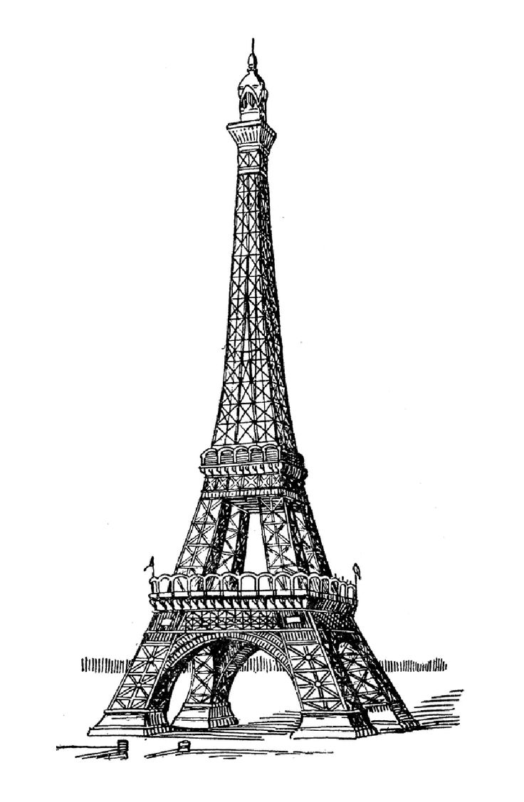 coloring pages eifell tower | Eiffel Tower Coloring Page - ClipArt Best