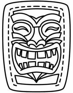 Wild image within tiki mask printable