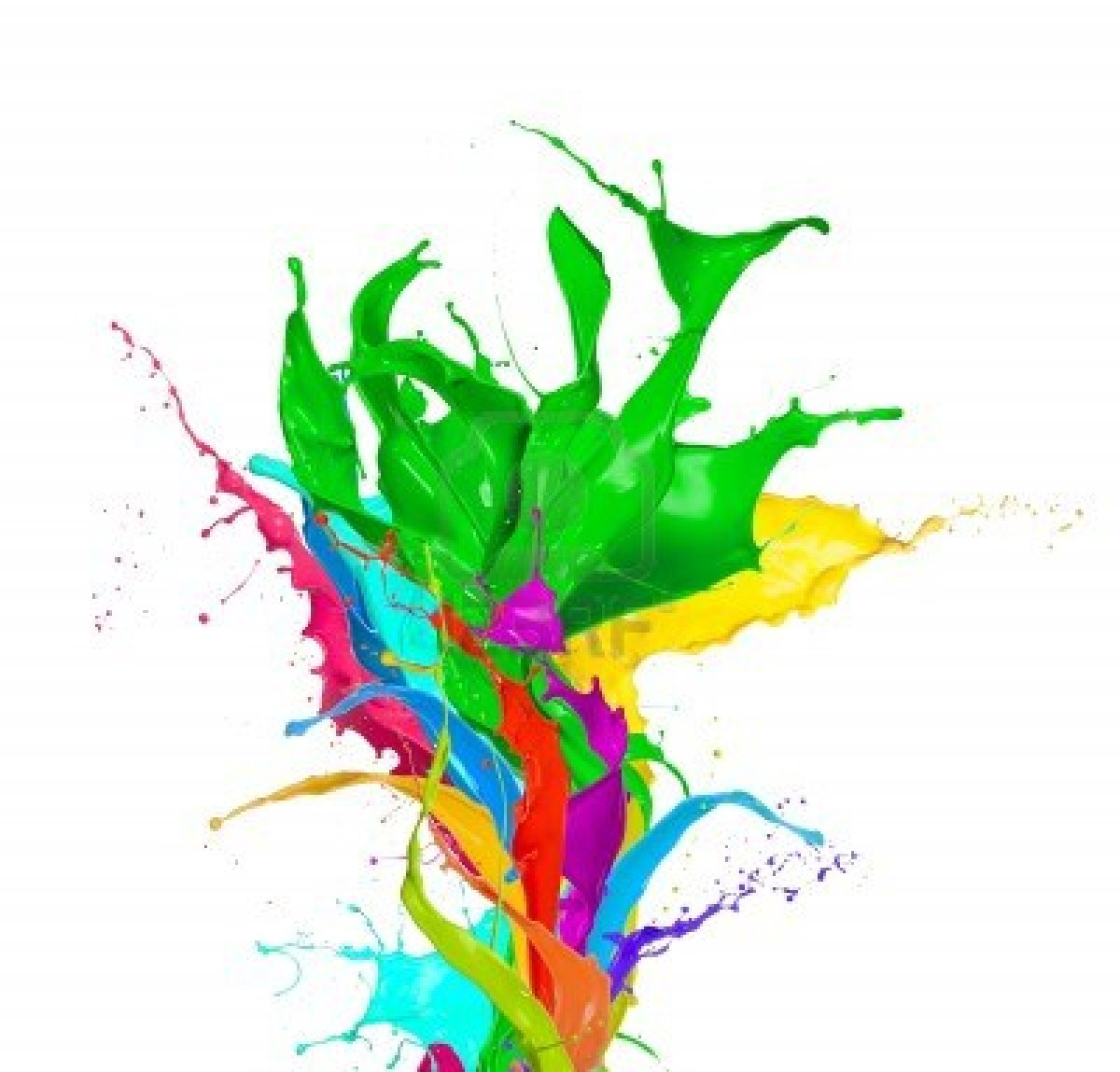 Splash paint background
