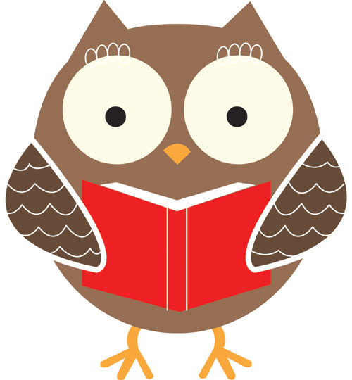 Student owl clipart