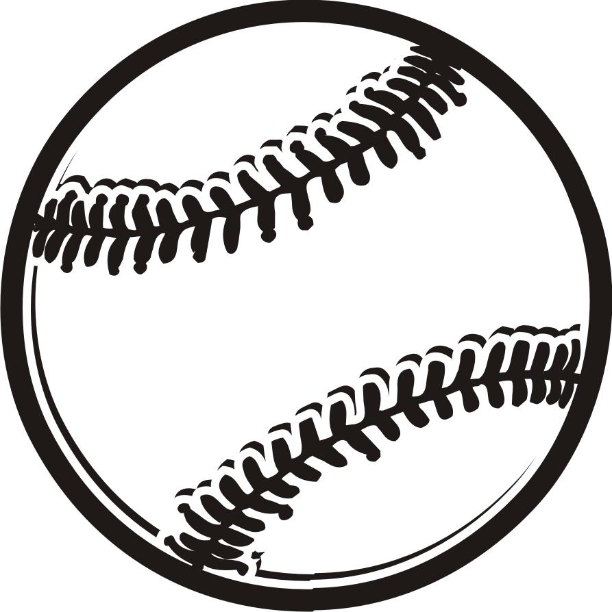 Black And White Baseball Ball - ClipArt Best
