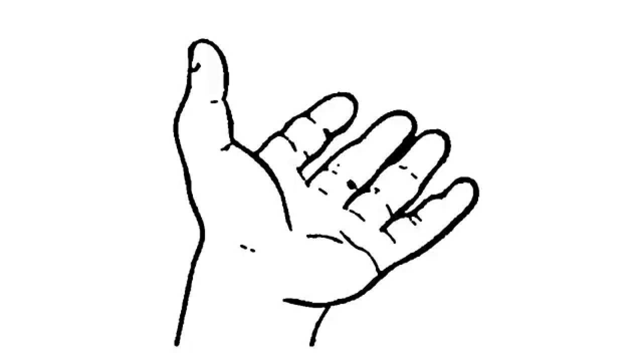 how to draw open hand