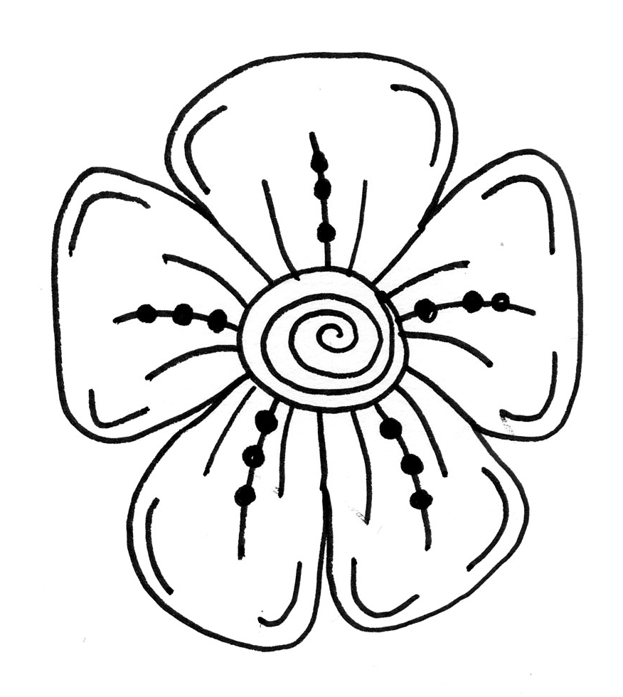 Easy flowers to draw clipart best for Best drawings to draw