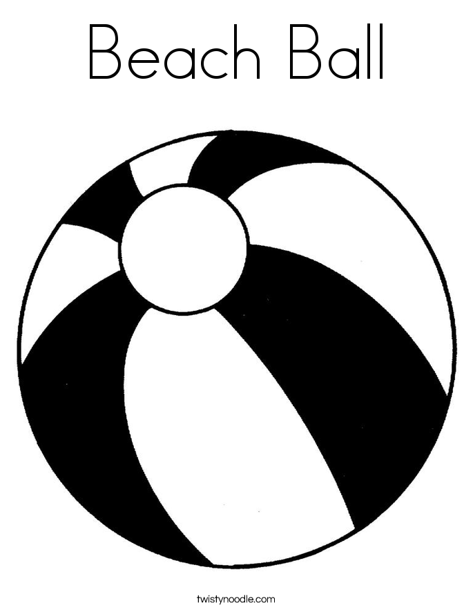 Beach Ball Outline - ClipArt Best