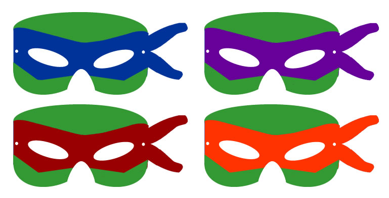 It's just an image of Fan Ninja Turtle Printable Mask