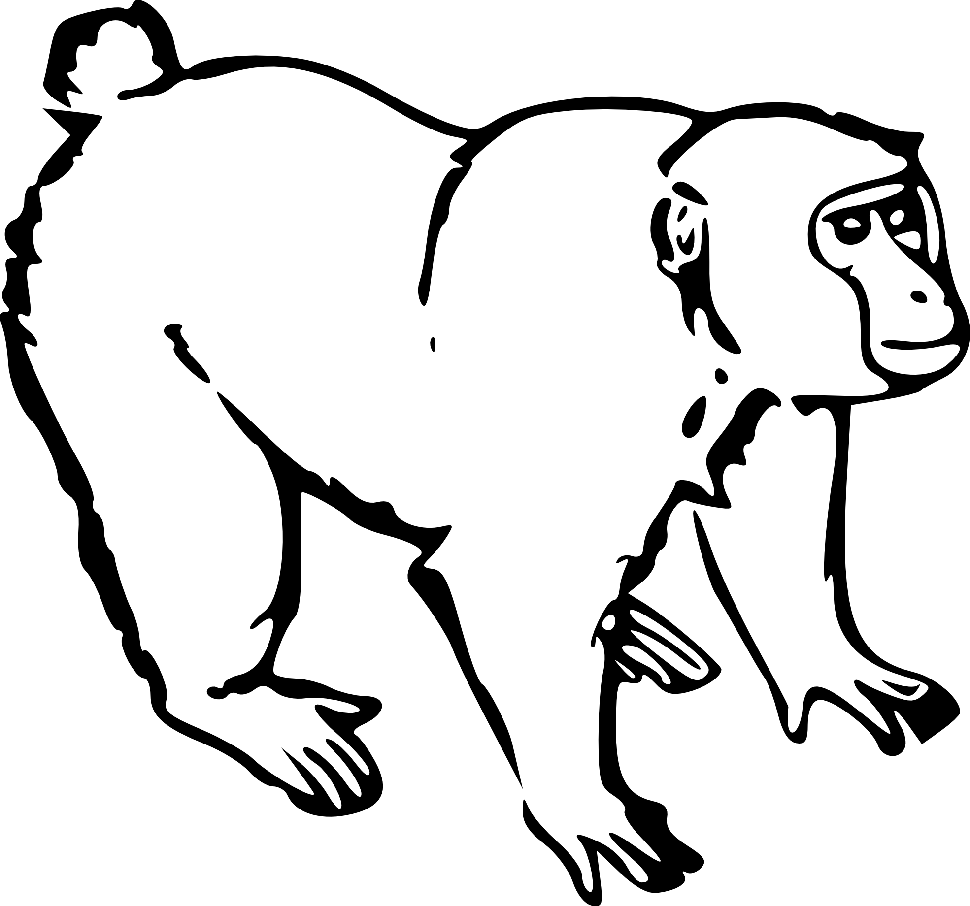 Zzve Line Art : Monkey line art clipart best