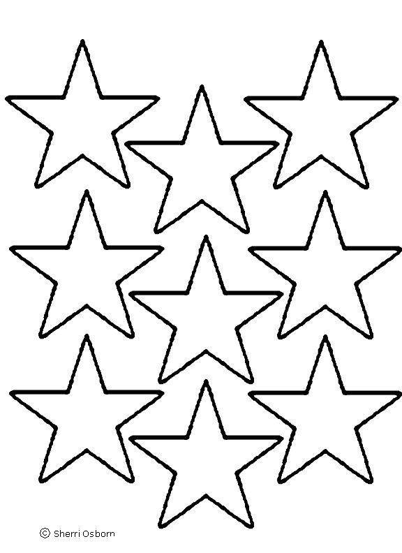Printable Star Stencil - ClipArt Best
