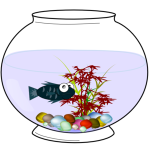 Fish Bowl Clipart Black And White - Free Clipart ...