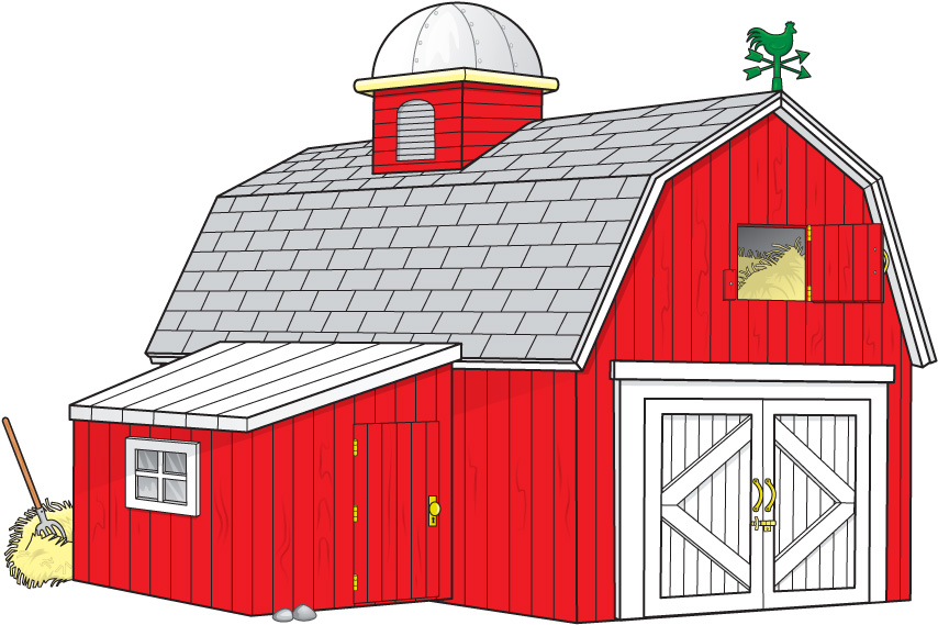 Cartoon Barn Red Barn Clip Art Out Door Red Clipartix