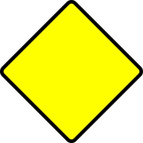 caution road signs clipart best