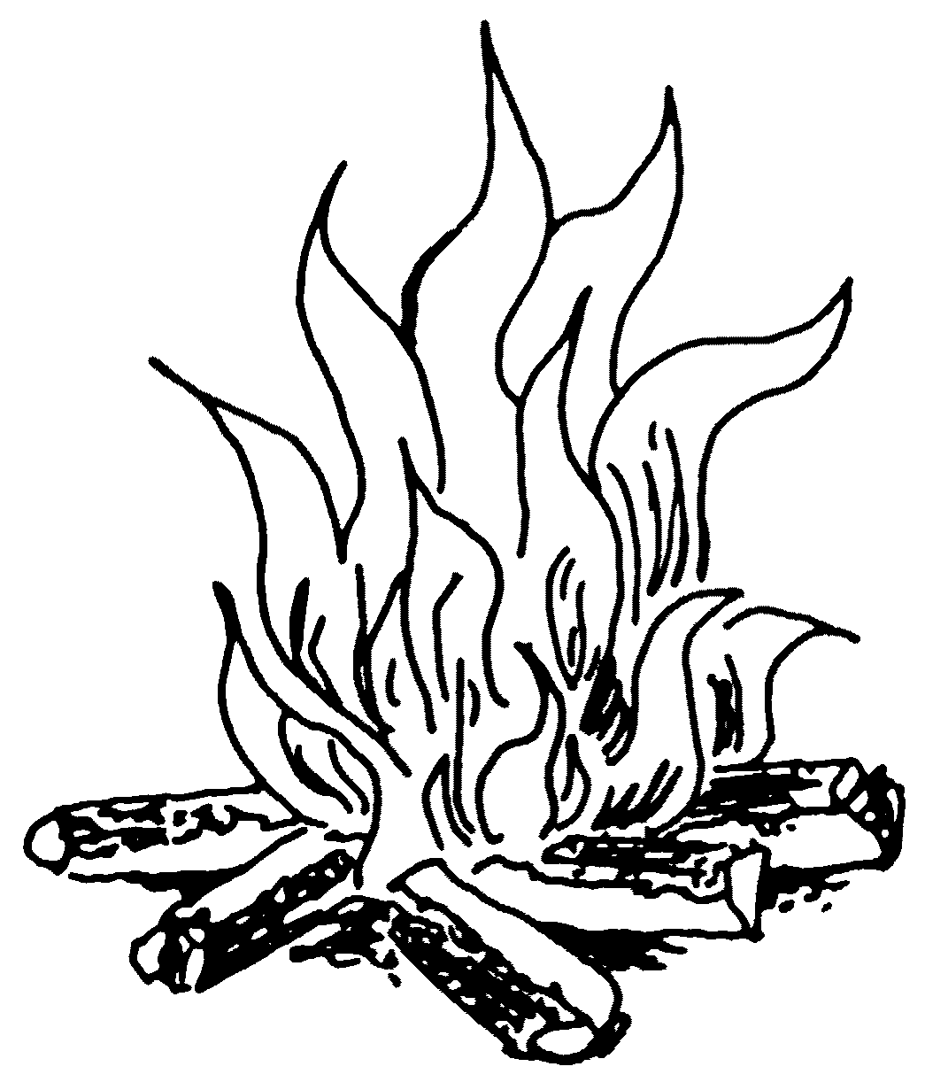 Line Drawing Fire : Fire line drawing clipart best