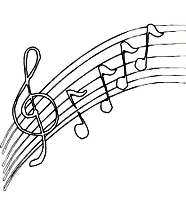 Music Notes Coloring Page ClipArt