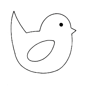 Easter chick template clipart best for Easter chick templates free