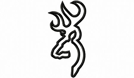 Deer head outline clipart best for Browning coloring pages