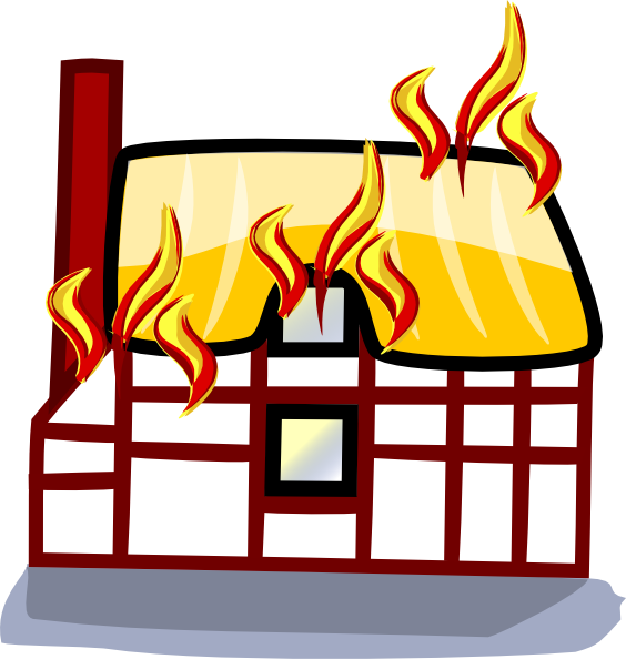 House Fire Insurance clip art Free Vector