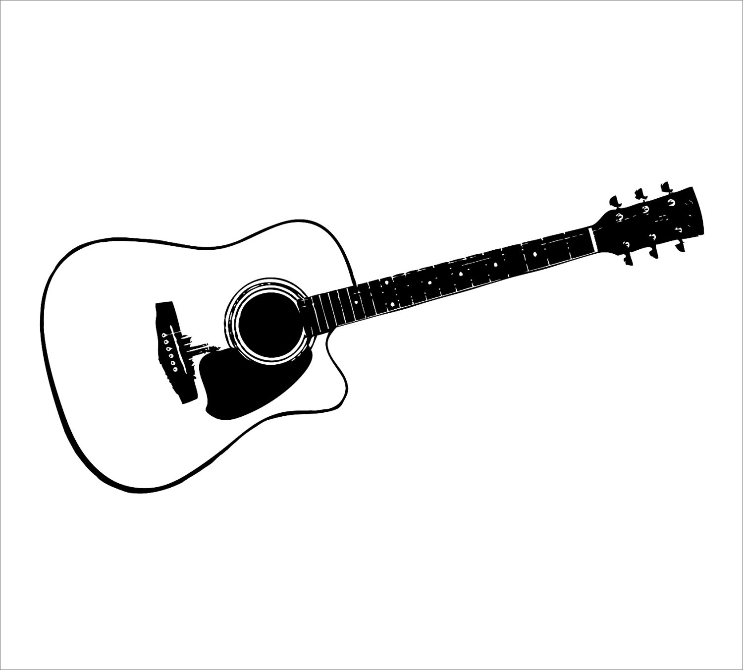 Outline Of A Guitar - ClipArt Best
