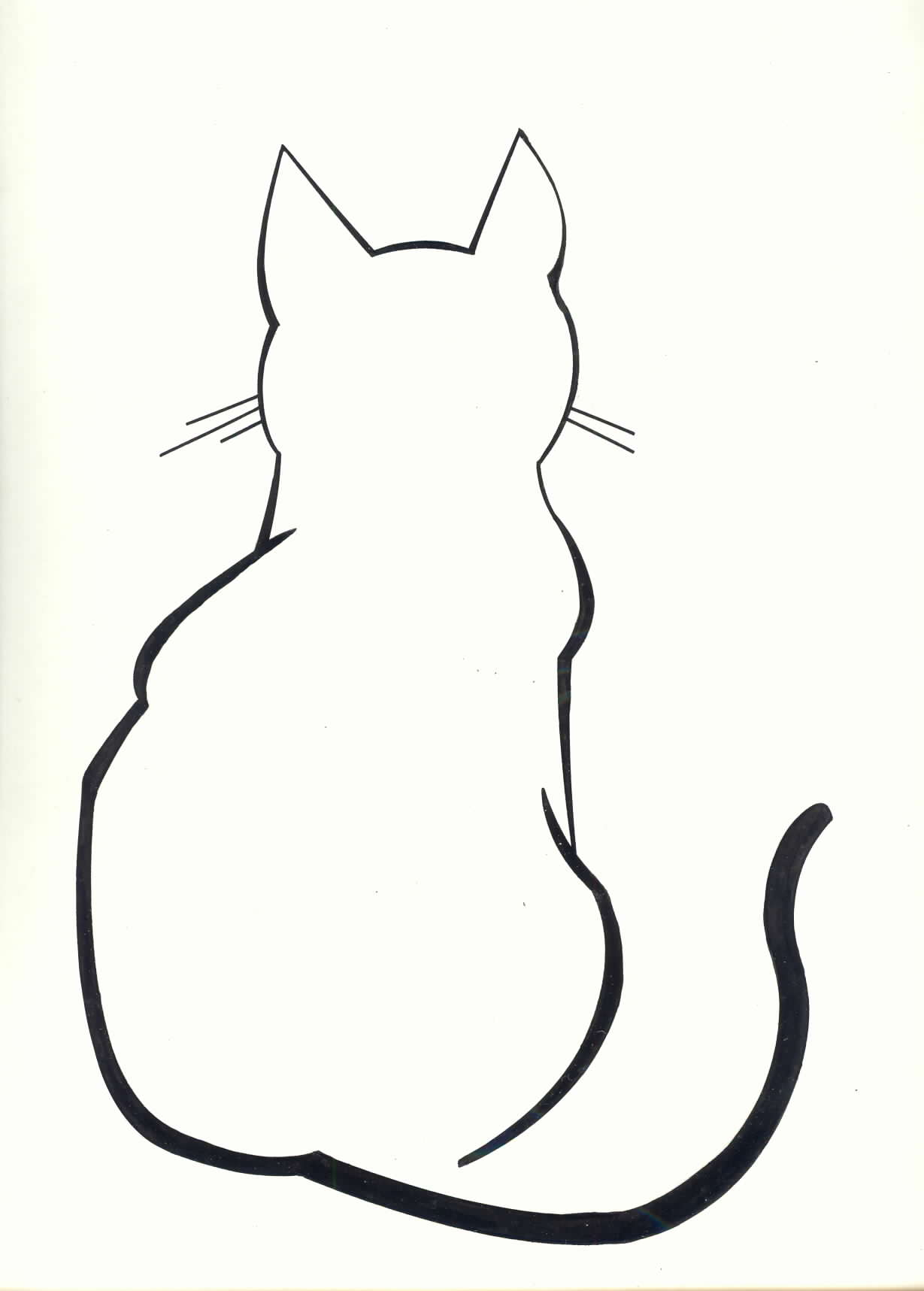 Line Drawing Kitten : Sleeping cat silhouette clipart best