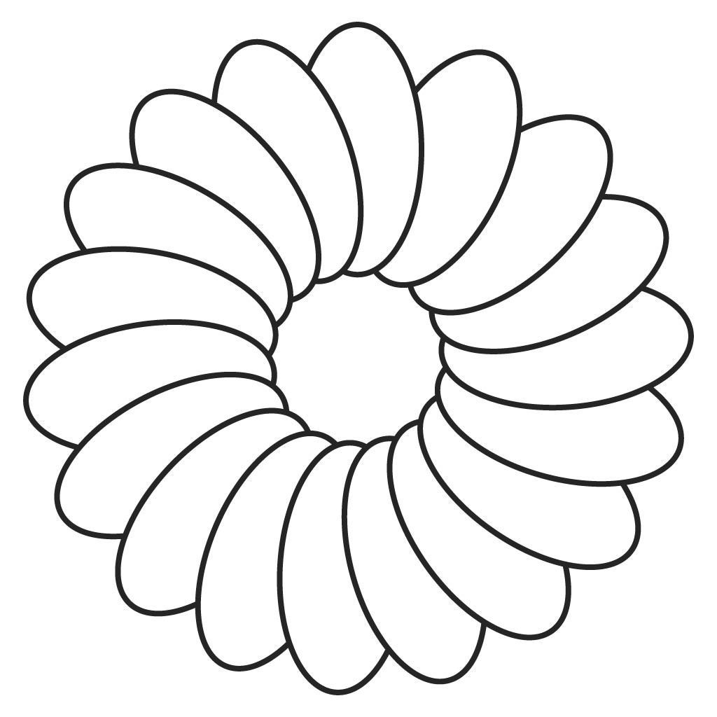 Flower Outline Drawing : Printable flower stencils clipart best