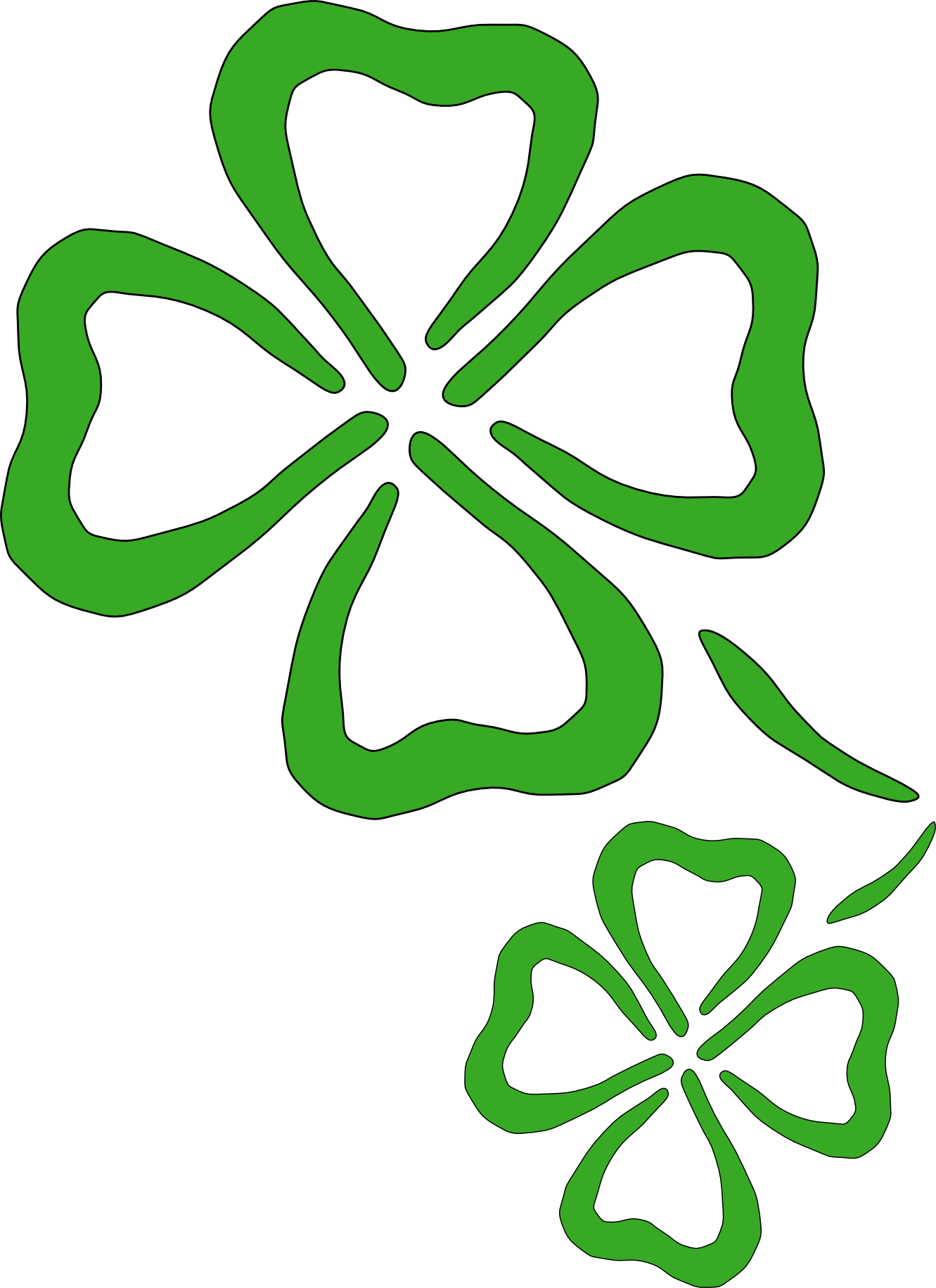 shamrock 3 coloring book colouring SVG