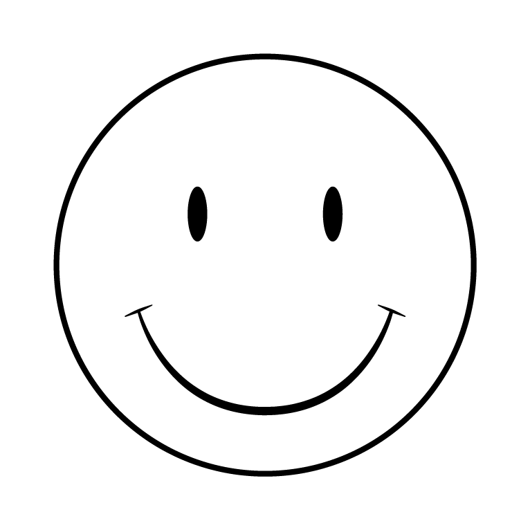 Smiley Face Black And White - ClipArt Best