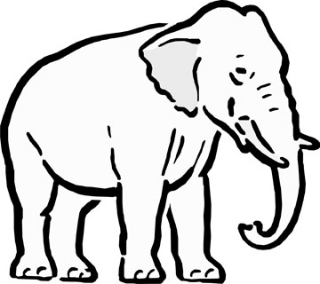 Cartoon elephant outline clipart best for Cartoon elephant coloring pages