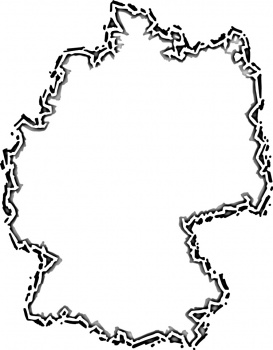 Germany Map coloring page ...