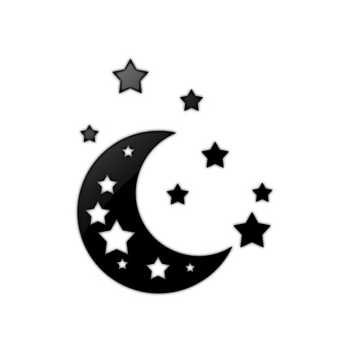 free clip art moon and stars - photo #9