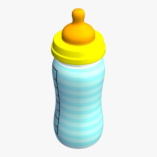 Baby Bottle 3D Model Made with 123D 123Dapp.