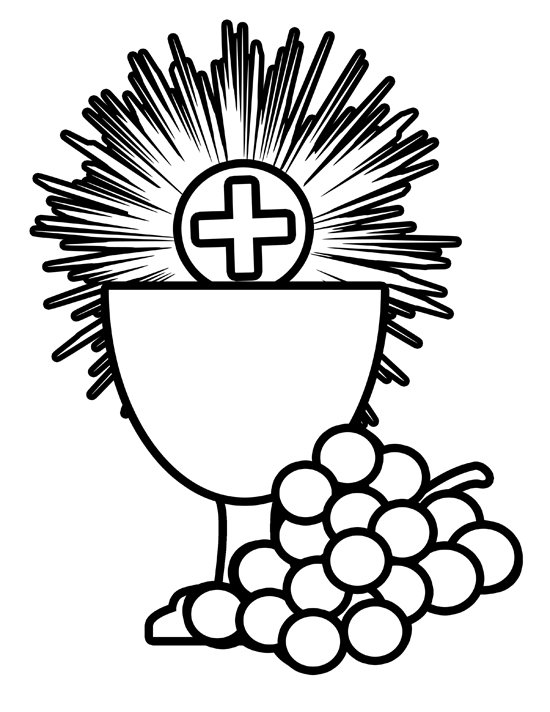 catholic first communion coloring pages - photo#30