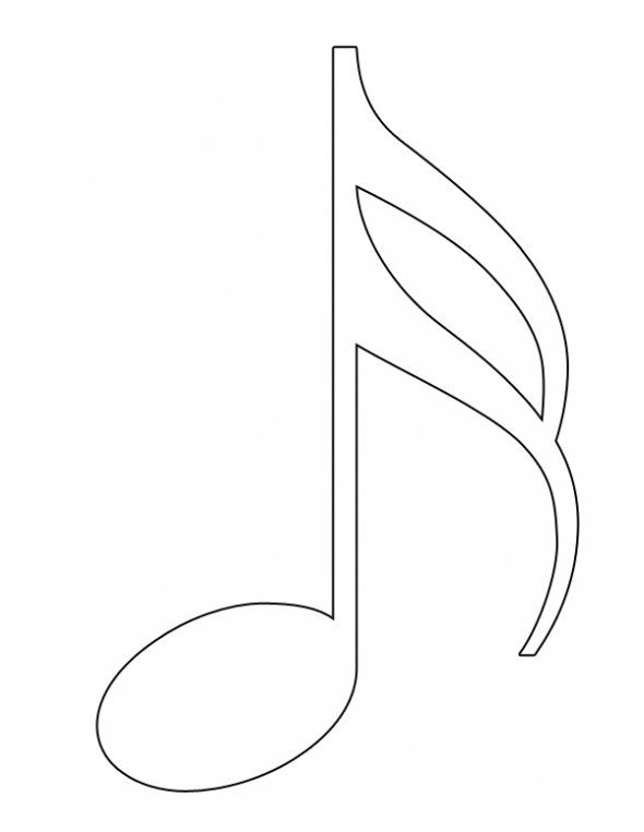 Printable Music Notes Clipart Best Free Printable Notes Coloring Pages