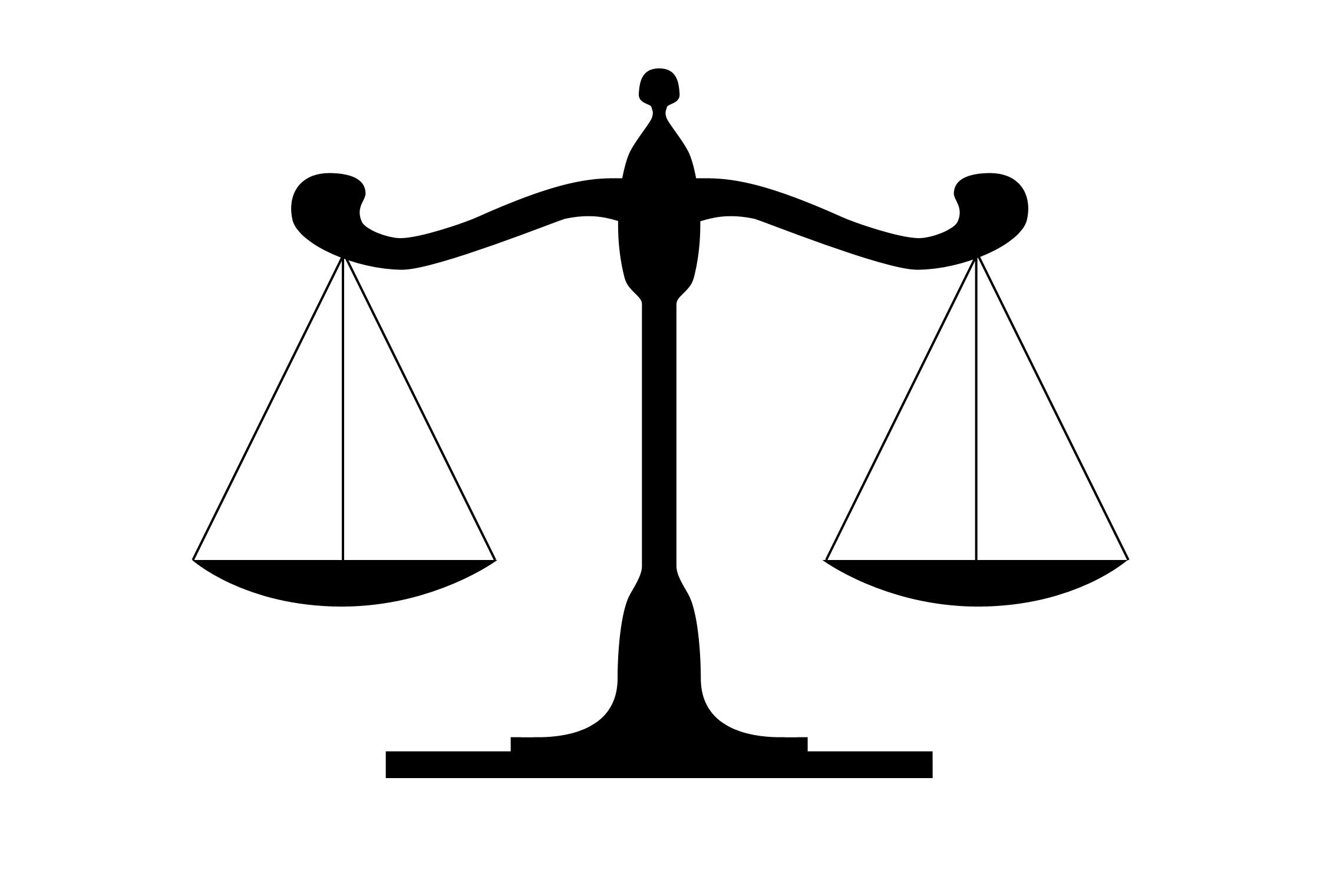 Justice Scale Clip Art - ClipArt Best