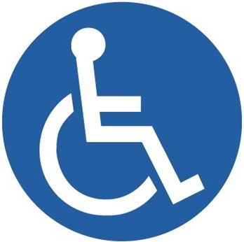Anti-Slip HANDICAPPED SYMBOL, Safety Floor Signs