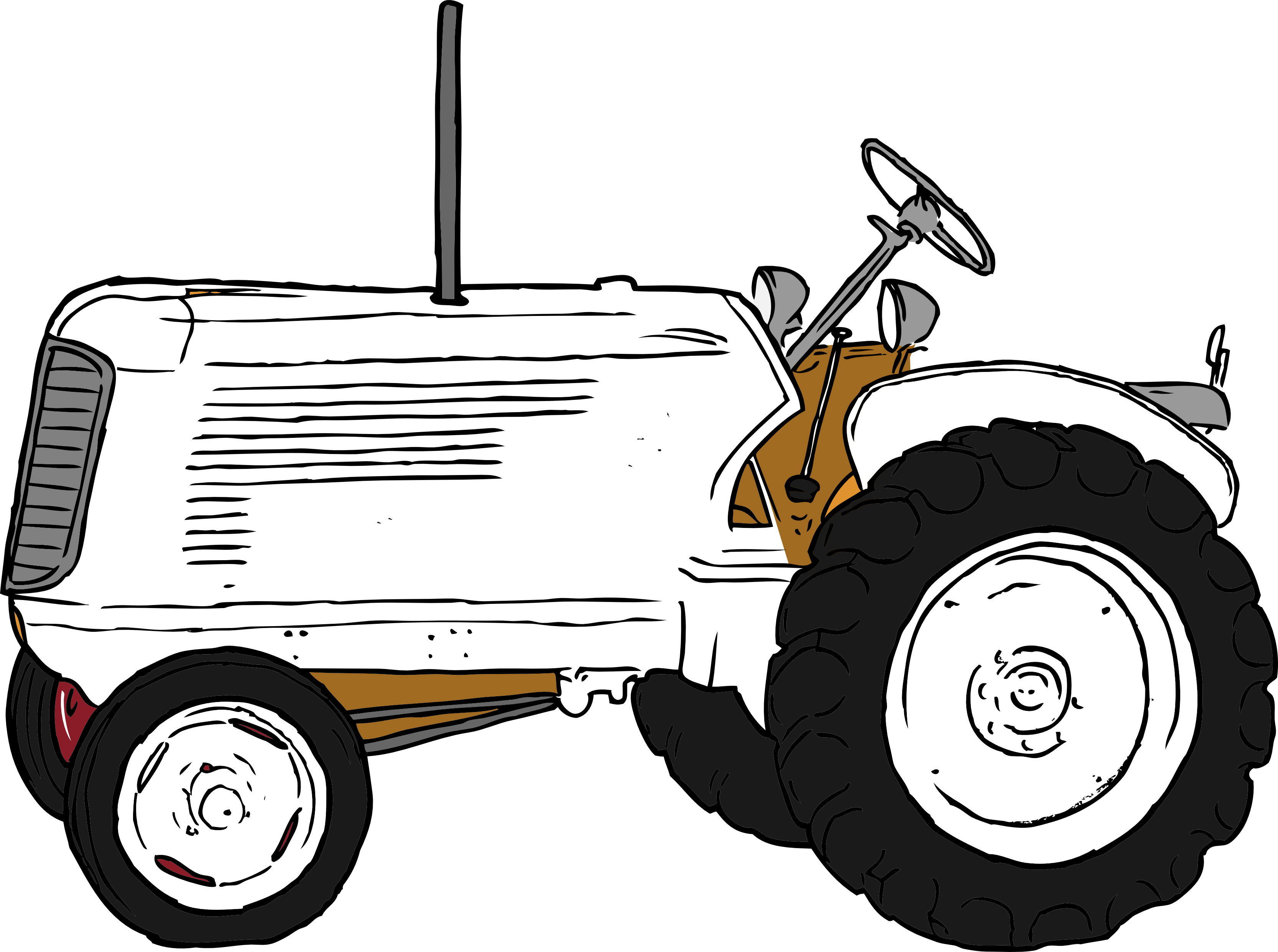 Line Drawing Tractor : Tractor clipart black and white imgkid the