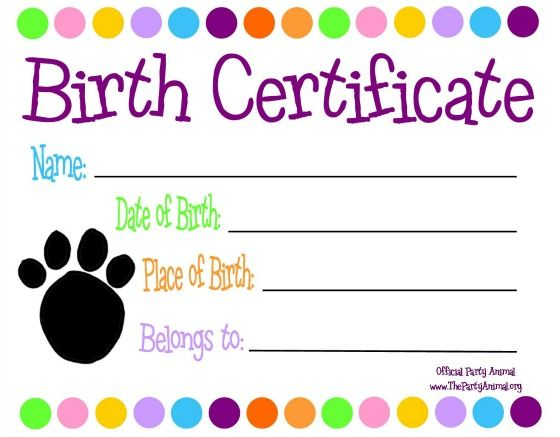 Birth Certificate Templates Free