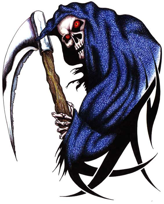 Tribal Grim Reaper Death Tattoo Sample Fresh 2017 Tattoos Ideas
