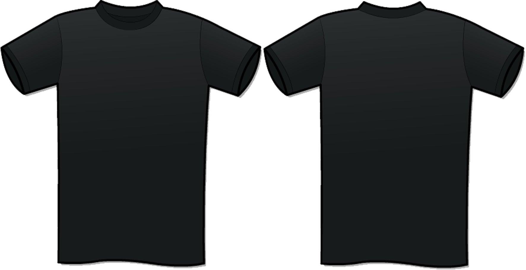 Black Tshirt Template Clip Art at Clkercom  vector clip