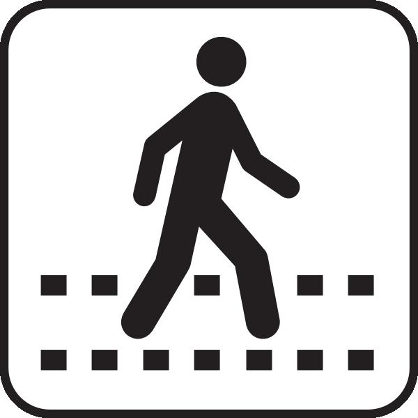 pedestrian symbol clipart best