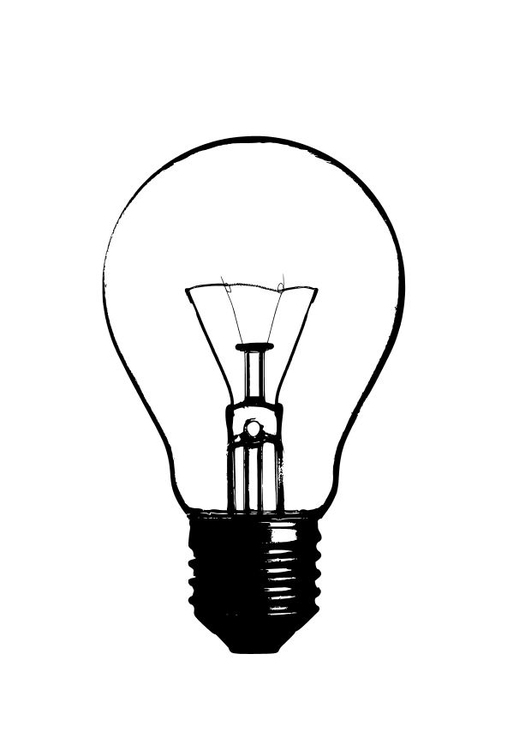 Coloring page light bulb - img 10244.