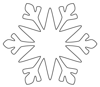 This is a picture of Gratifying Snowflake Cutouts Printable