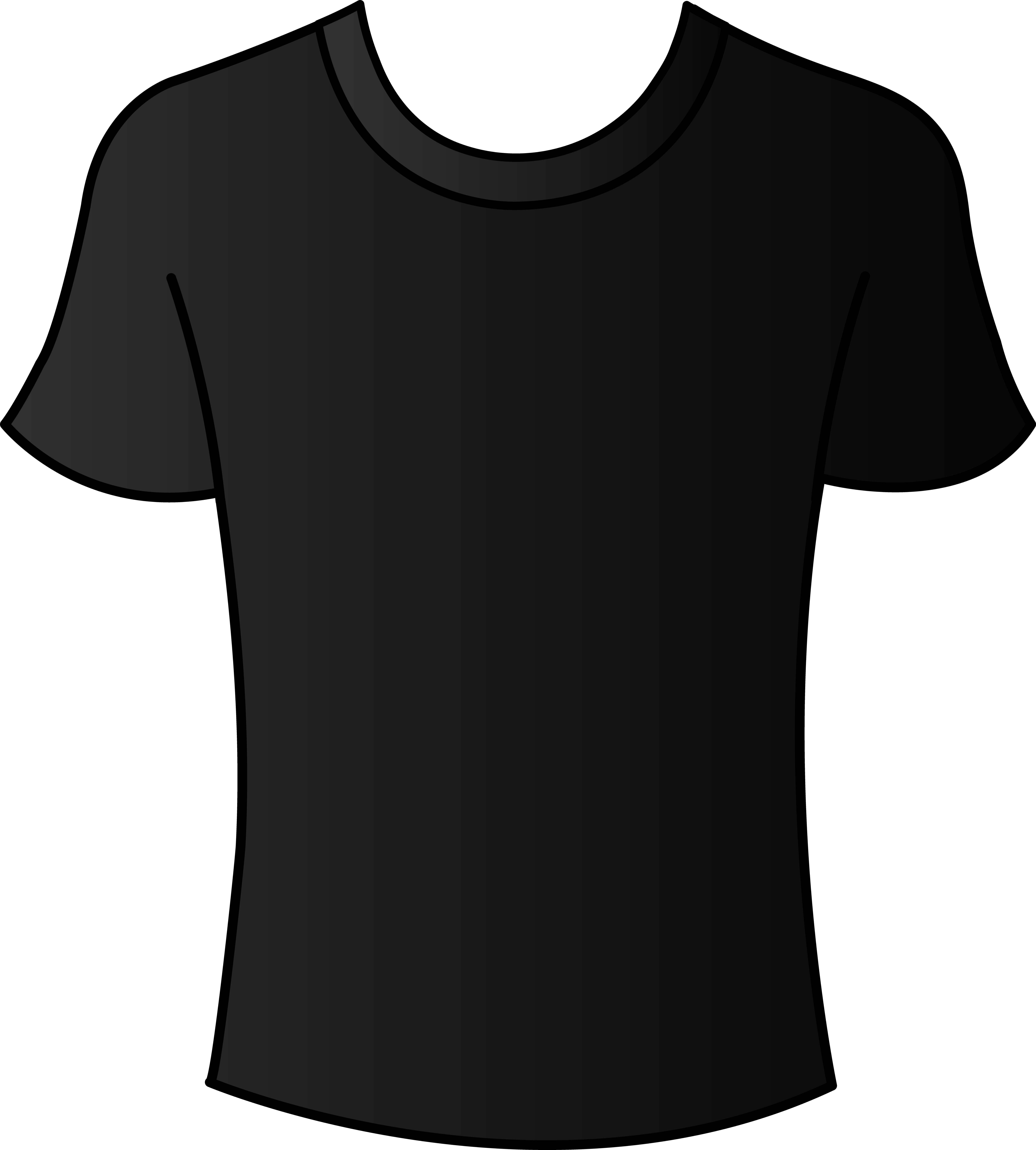 Black T Shirt Template Front And Back Psd Clipart Best