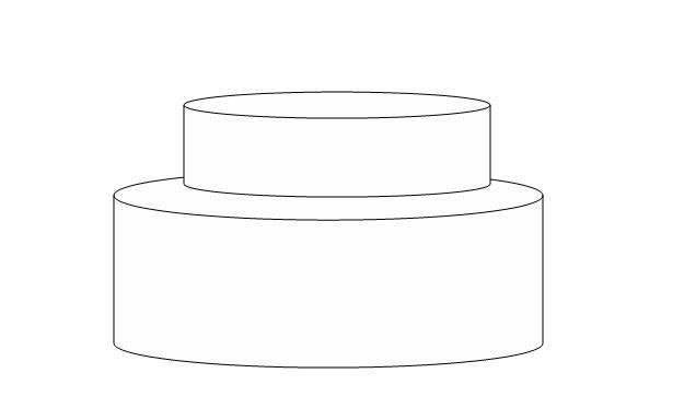 Tier Cake Blank Template