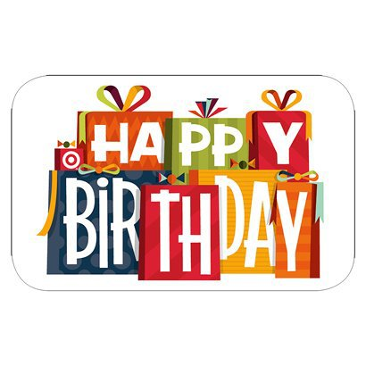 Happy Birthday Gifts GiftCard Target ClipArt Best ClipArt Best – Happy Birthday Gift Card