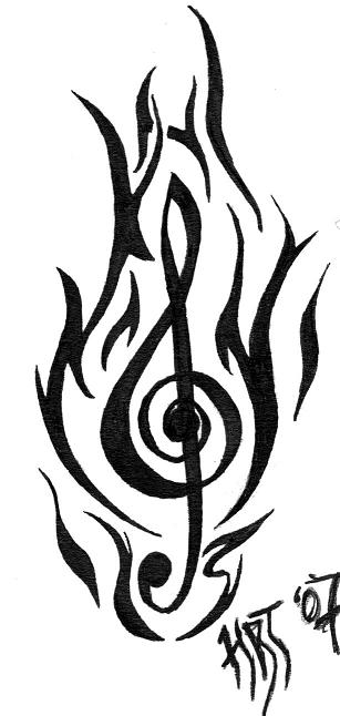 tribal music tattoos clipart best